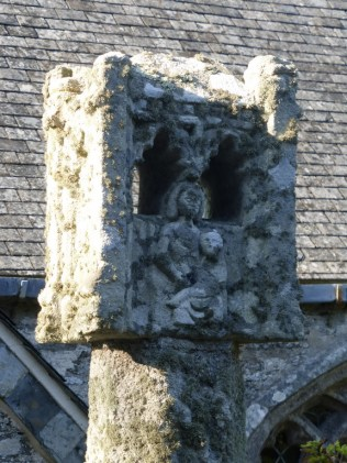 Lanteglos by Fowey: the lantern cross
